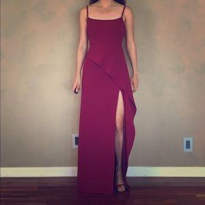 Bcbg wine dress size 0